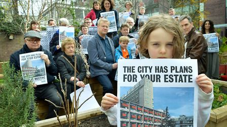 Golden Lane Estate tenants are campaigning against the 'out of proportion' plans. Picture: Polly Han