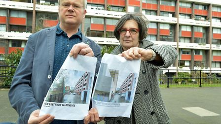 Tim Godsmark, chair of Golden Lane Estate Residents Association and Sue Pearson, chair of the Golden