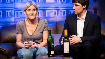Michelle Collins and Joe Coen in A Dark Night In Dalston at Park Theatre. Picture: Helen Murray