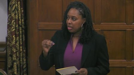 Dawn Butler MP debating in the Commons.