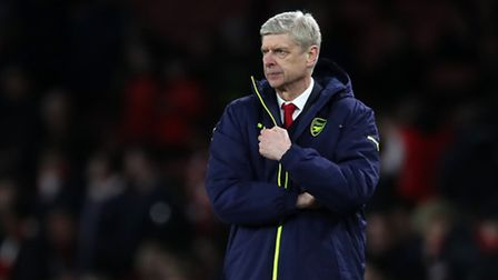 Arsenal manager Arsene Wenger during the UEFA Champions League Round of 16, Second Leg match at the