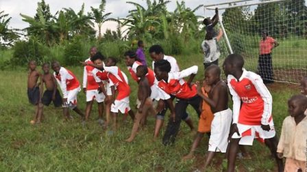 Youngsters from Uganda's Family of Hope have benefitted from Arsenal's generosity