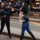 Two 'students' fight in Upper Street. Picture: Submitted to Islington Gazette
