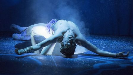 Sergei Polunin performing in Narcissus and Echo at Sadler's Wells. Picture: Alastair Muir