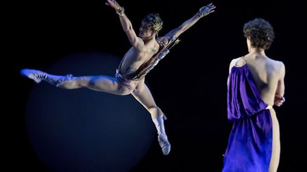 Sergei Polunin performing with the trademark athleticism for which he is famous. Picture: Alastair M