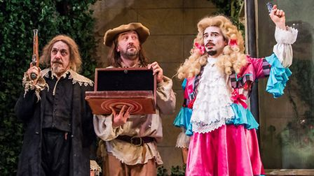 The Miser with Griff Rhys Jones, Lee Mack and Ryan Gage. Picture: Tristram Kenton
