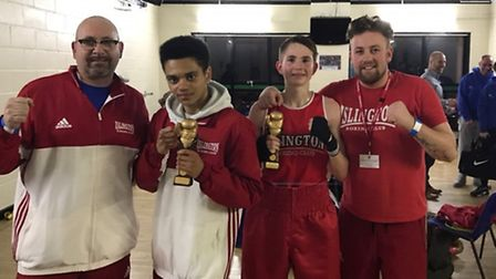Kevin Daly, Joshua Strong, Connor Daly and Barry Healy from Islington Boxing Club. Picture: REGGIE H