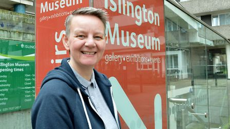 Volunteer Anne-Marie Garbutt at Islington Local History Centre. Picture: Polly Hancock