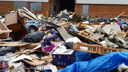 The huge mound of rubbish is rising by the hour, according to Michael Slee.