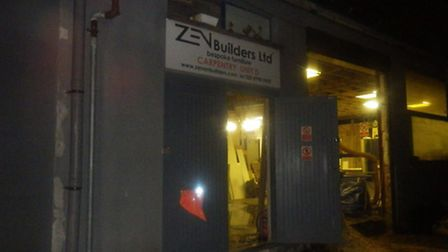 The premises of Zen Builders Ltd was damaged by the fire. (Photo: London Fire Brigade)