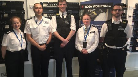 Islington Police officers at the body warn video launch. Picture: Met Police