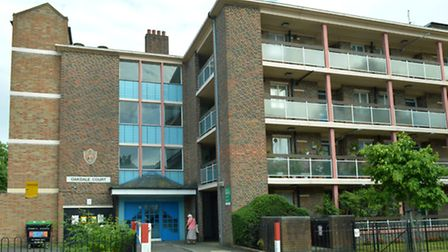 The flats in Fortnam Road, Archway, where Demi lived