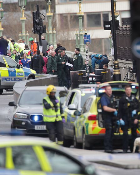 First responders outside the Palace of Westminster. Picture: PA/Yui Mok