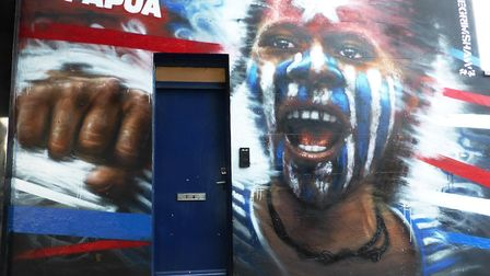Dale Grimshaw's Free West Papua mural in Camden