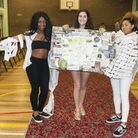 Students from City and Islington College at the show. Picture: Nigel Sutton
