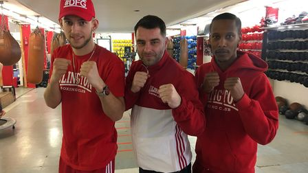 Islington Boxing Club's three newly-qualified coaches, Mason Smith, Zowie Campbell and Scott Smart.