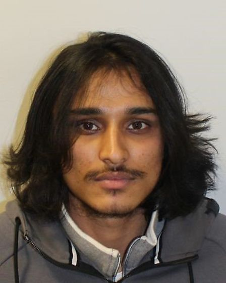 Sharuk Sheraji was Zuriel Hutson's pillion and stole 18 mobile phones. Picture: Met Police
