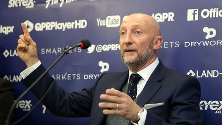 Queens Park Rangers manager Ian Holloway speaks to the press (pic Steven Paston/PA)