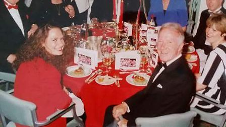 The much-loved Geordie Armstrong and Jill at an Arsenal staff Christmas party