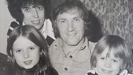 Jill and her much-missed dad Geordie in a family picture