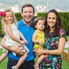 Jonathan and Amy with their children Zoe and Annie. Picture: Michael Bertolasi