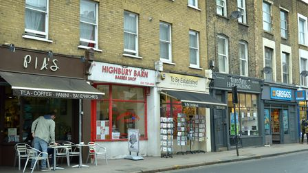 Highbury Barn Barber Shop and To Be Established were burgled on Saturday. Picture: Polly Hancock