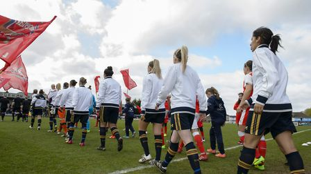 Tottenham and Arsenal faced each other recently in the Women's FA Cup. Picture: WUSPHOTOGRAPHY.COM