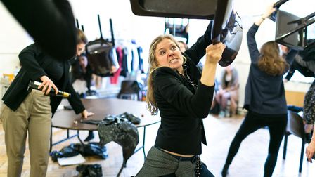 All female version of POSH directed by Cressida Carre. Picture: Darren Bell