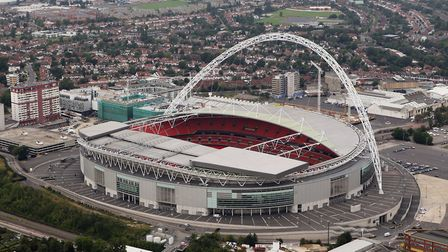 Aerial view of Wembley Stadium (Photo by Tom Shaw/Getty Images)