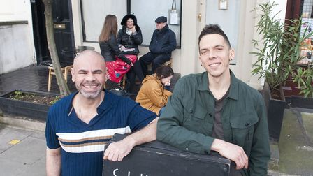 Terrence Williamson and Alan Turner, co-owners of Sunday in Barnsbury. Picture: Nigel Sutton
