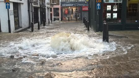 Flooding in Upper Street this morning. Picture: London Fire Brigade