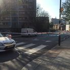 Copenhagen Street in Islington was cordoned off on Saturday after an acid attack. Picture: Tom Marsh
