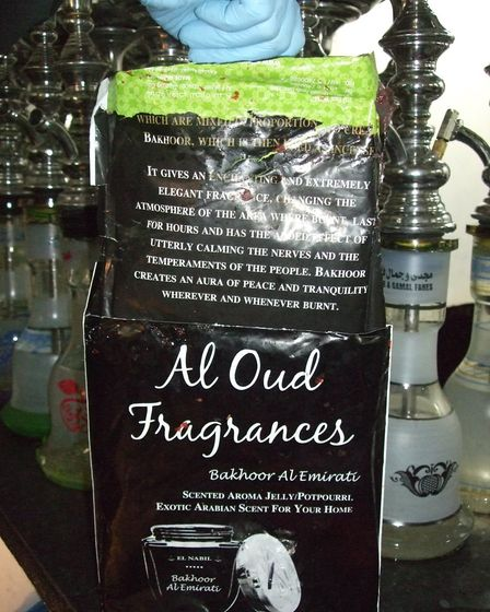 Tobacco packaged as Al Oud fragrance. (Photo: Brent Council)