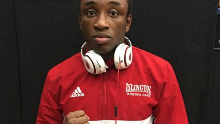 Lamin Conteh of Islington Boxing Club exited the National Elite Championships in Doncaster. Picture: