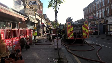 Fire fighters tackled a blaze in Park Parade, Harlesden (Picture: @LondonFire