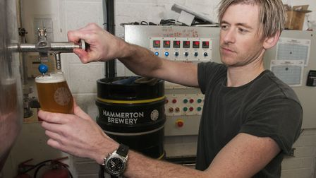 Lee Hammerton at his brewery. Picture: Nigel Sutton