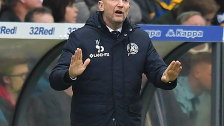 Queens Park Rangers manager Ian Holloway shouts instructions to his team (pic Dave Howarth/PA)