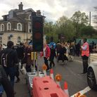 'Chaos' at Highbury Corner as the temporary traffic lights break down. Picture: David Child