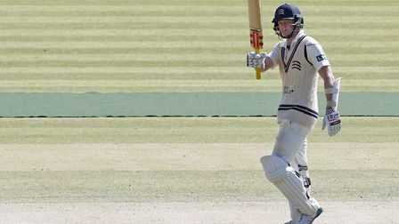 Middlesex's Sam Robson celebrates a half century (pic PA)