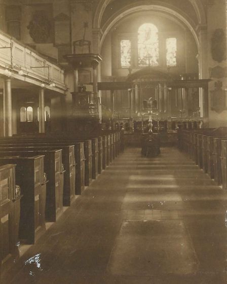 St Mary's Church in 1940, before the Second World War bomb. Picture: St Mary's Church