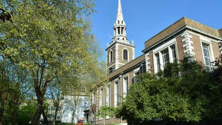 Rev Simon Harvey has a list of 70 repairs for St Mary's Church in Islington. Picture: Polly Hancock