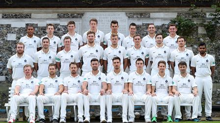 Middlesex face the camera during their media day at Lord's ahead of the new county championship seas