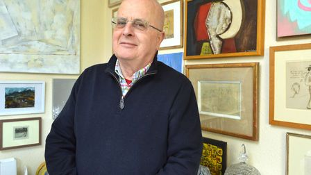 Tim Sayer has been collecting art since he was a schoolboy. Picture: Polly Hancock