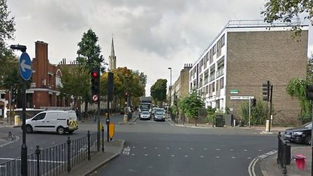 A man was stabbed near Essex Road's junction with New North Road. Picture: Google Street View