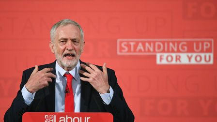 Labour leader Jeremy Corbyn launches his election campaign in Church House, London. Picture: Stefan
