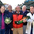 Dave Jackson, second right, with (L-R): Tony Jones, John Hardie, David Twydell and Gary Curtis. Pict