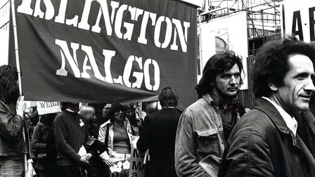 The 1974 May Day rally from Clerkenwell Green. Picture: Islington Local History Centre
