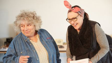 Miriam Margolyes and Frances Barber in Madame Rubinstein. Picture: Mark Douet