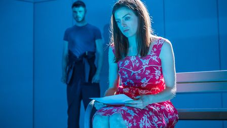 Matthew Needham (Simon) and Aisling Loftus (Anne) inThe Treatment. Picture: Marc Brenner