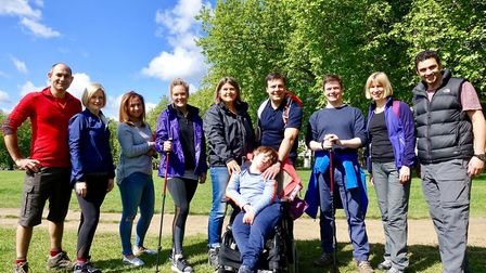 The Islington climbers taking on the Ben Nevis challenge in aid of Dravet syndrome research. Picture